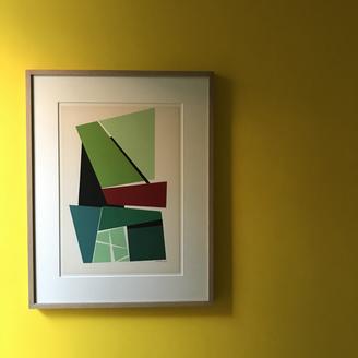 Jo Delahaut, untitled screen print, 1958