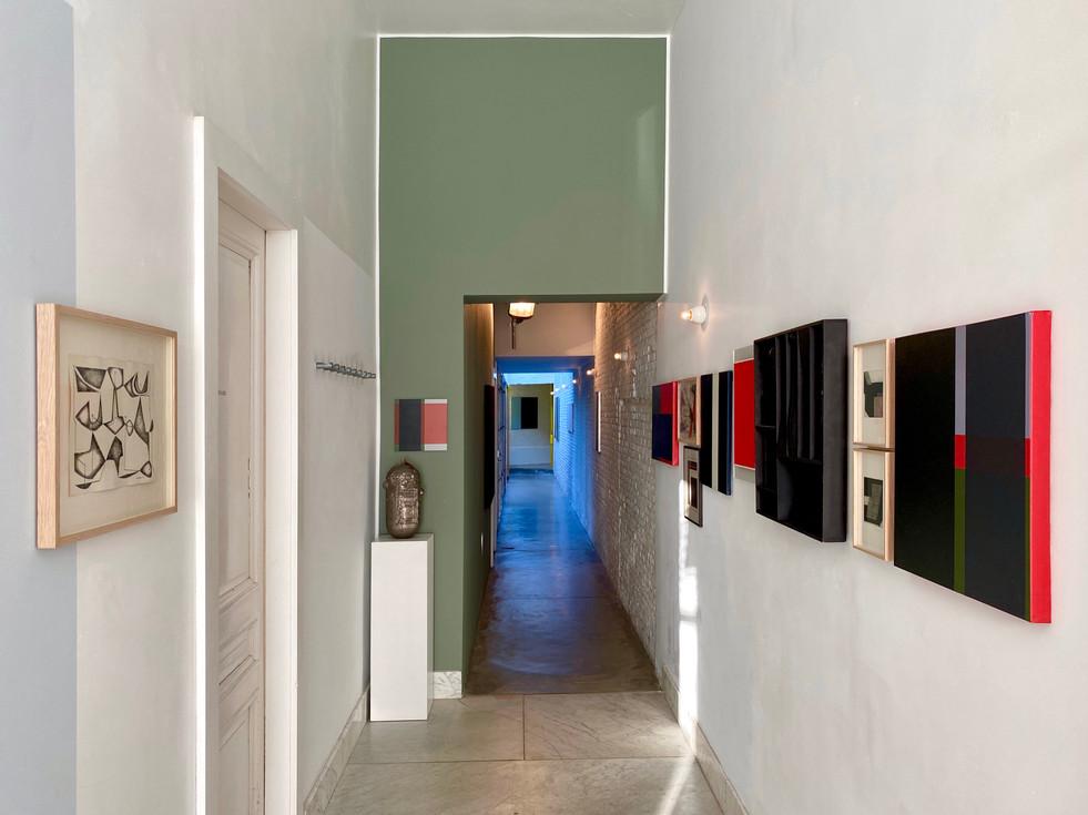 STILL, installation view hallway