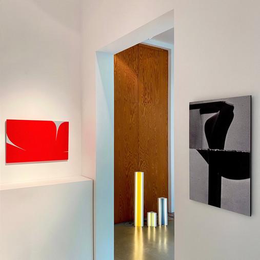 Installation view room 2, Johan Van Oeckel, Axelle Vertommen, Johannes Elebaut