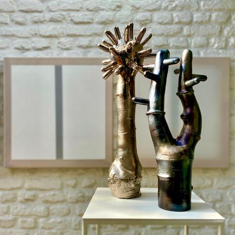 Félix Hannaert, Untitled & Wouter Hoste, Space Flower & Space Tree