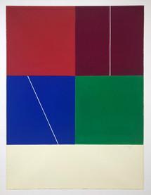 Jo Delahaut, untitled gouache, 1977