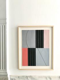 Jo Delahaut, untitled gouache, 1975