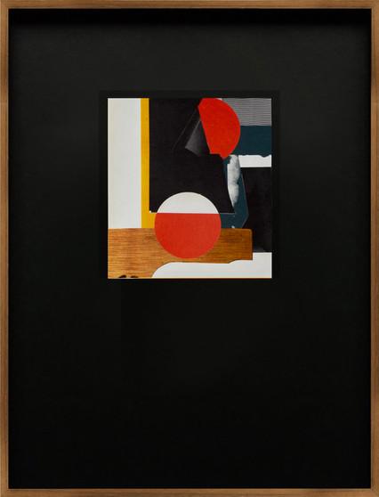 Johannes Elebaut, CLR_01, hand-cut collage, 2021
