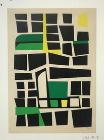 Jo Delahaut, untitled screen print, 1956