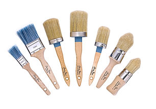 Annie Sloan Chalk Paint Brush selection.