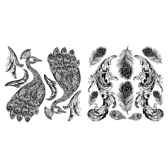 IOD Iron Orchid Designs Stamp Pavo