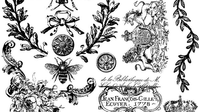 IOD Iron Orchid Designs Stamp Queen Bee