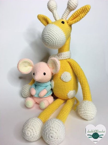 Double RR Crochet Giraffe