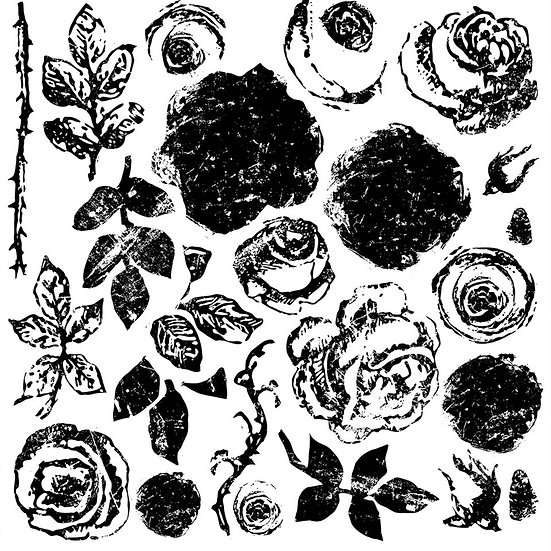 IOD Iron Orchid Designs Stamp Painterly Roses