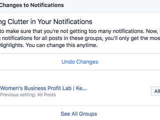 You are missing activity in your Facebook Group