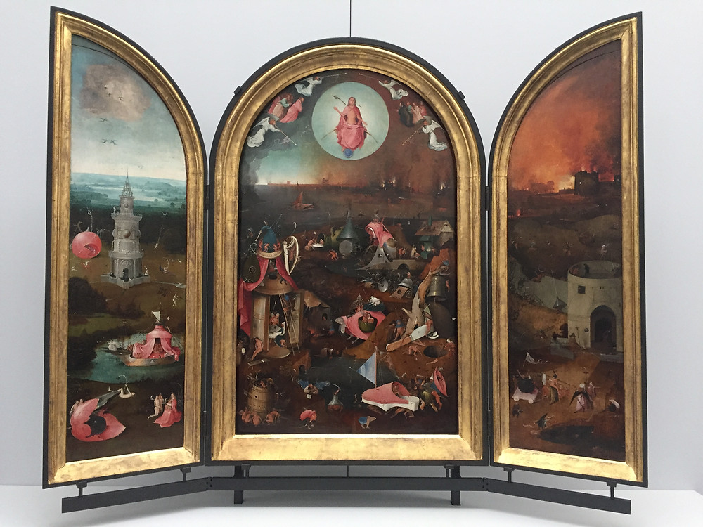 The Last Judgement, Hieronymus Bosch and workshop, c. 1486, oil on wood triptych, Groeningemuseum, Bruges, Belgium. Photo by the author