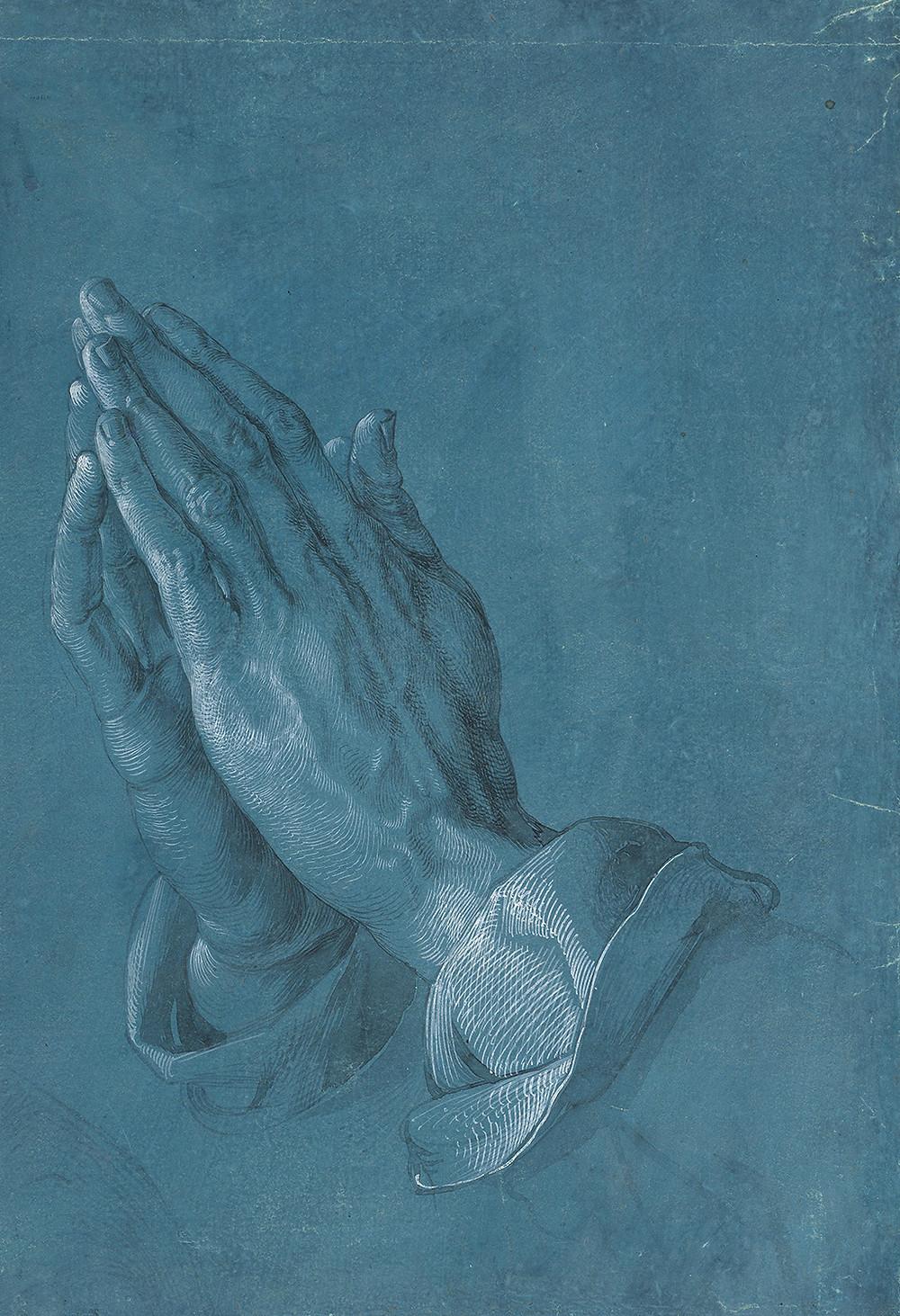 Praying Hands, Albrecht Dürer, 1508. Ink and pencil on paper, 29 x 19 cm. The Albertina Museum, Vienna