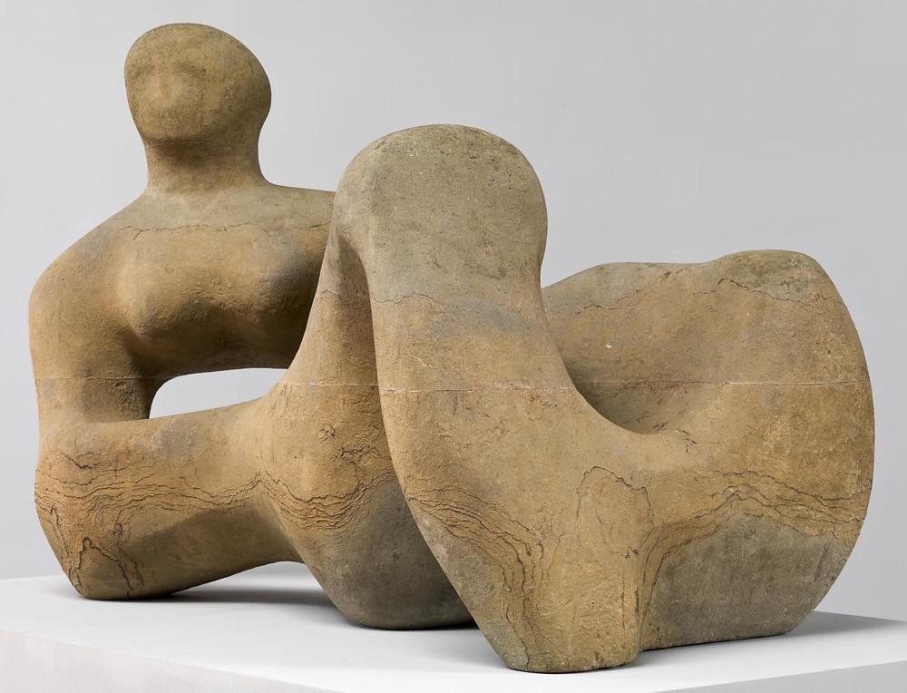 Recumbent Figure 1938, Henry Moore. Green Hornton limestone, 88.9 × 132.7 × 73.7 cm. Tate.