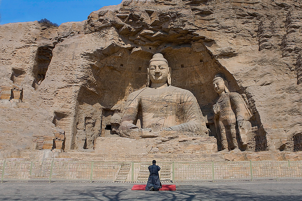 Yungang Grottoes constructed from the mid-fifth century to early the sixth century CE. Photo by Ko Hon Chiu Vincent. From unesco.org