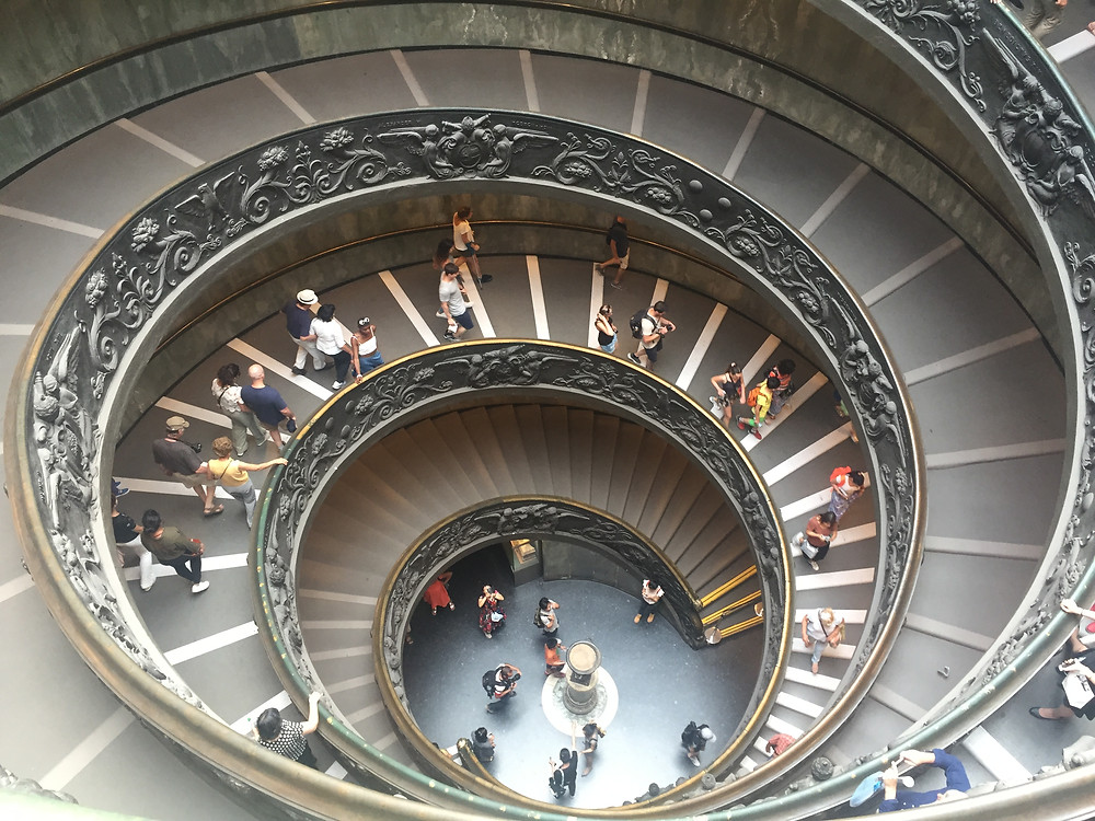 Bramante Staircase, Vatican Museum. Photo by the author