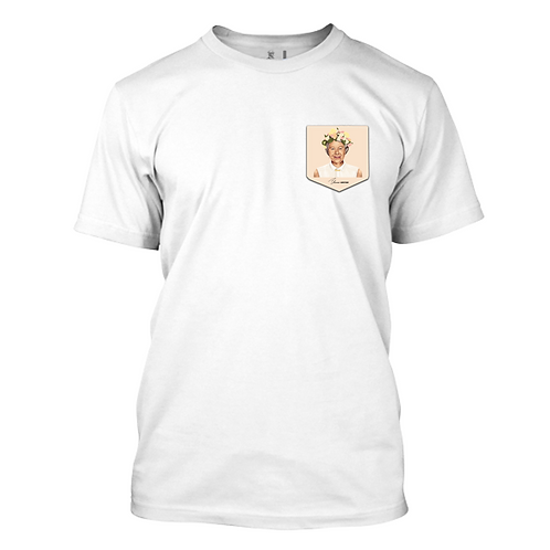 Queen Elizabeth in a Pocket Playera para Hombre