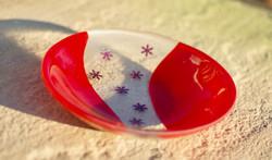 Xmas tennis ball bowl