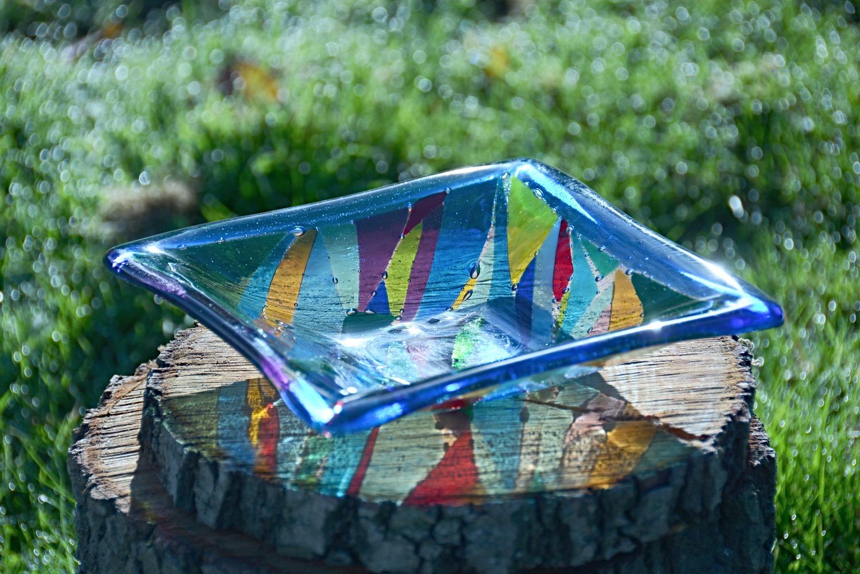 Blue square bowl