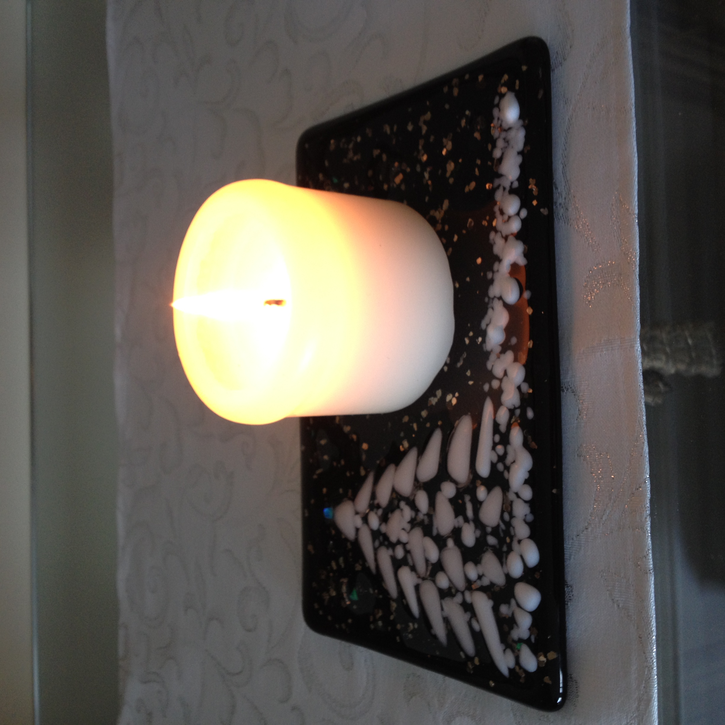 Black Christmas tree candle stand