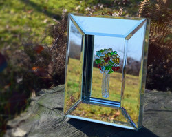 Tree in mirrored frame
