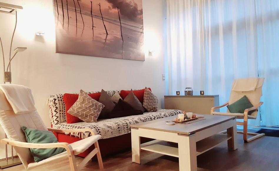 Gemütlich eingerichtetes Wohnzimmer