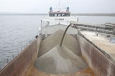 Щебень доставка водным транспортом