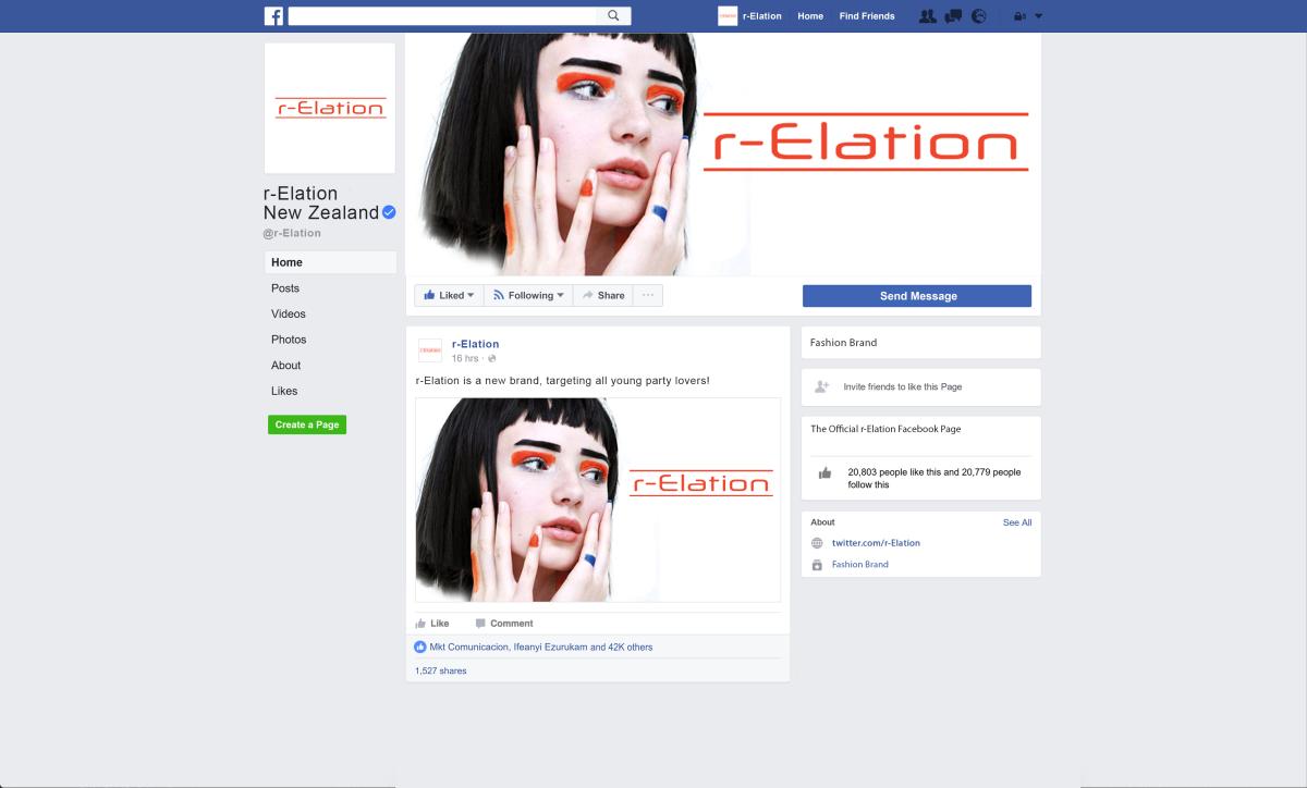 Facebook Mock-up