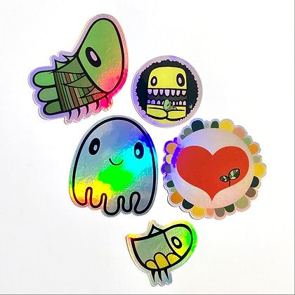 super shiny holographic sticker pack