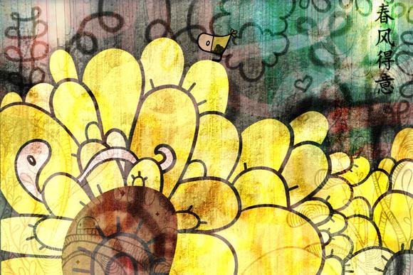 digital springtime art