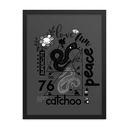 Catchoo Love Fun Peace Framed poster