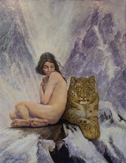 """Snow Leopard Goddess"""