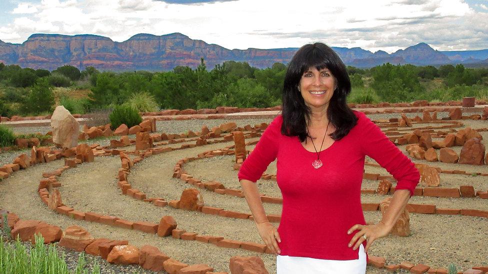 Cynthia Daddona in a spiritual labyrinth in Sedona, Arizona
