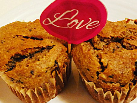 Gluten-Free Blueberry, Banana Oat Muffins