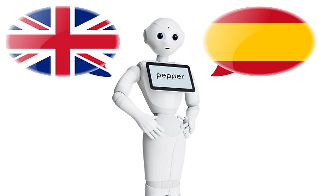 robotic idiomas pepper pirobot alquiler marketing