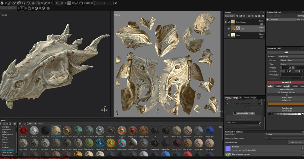 texturing skull but come across a proble