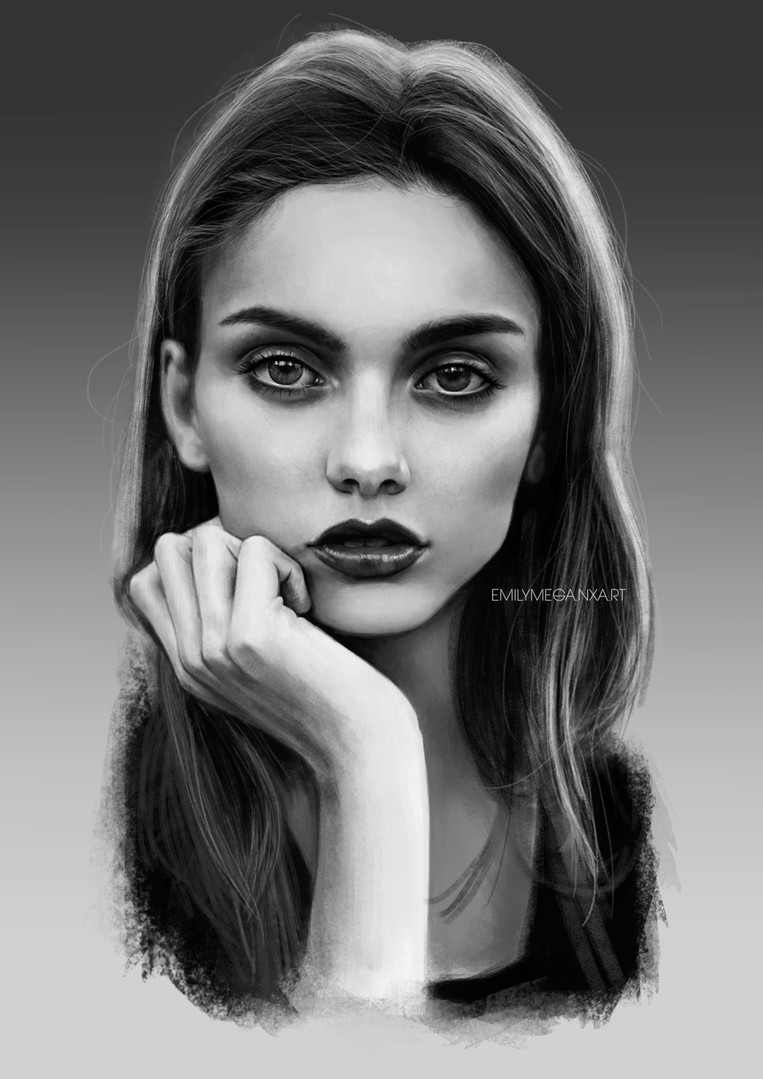 Value portrait study