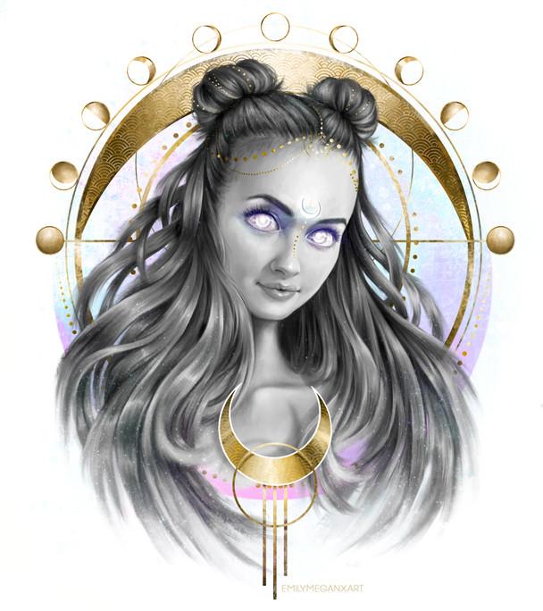 Stylised digital painting portrait