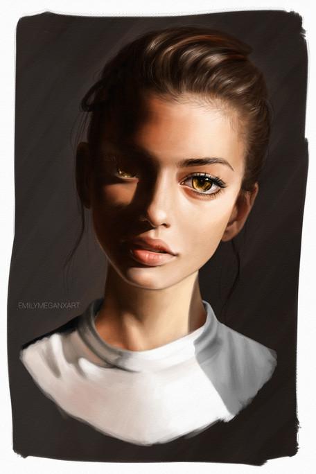 Warm Light stylised portrait