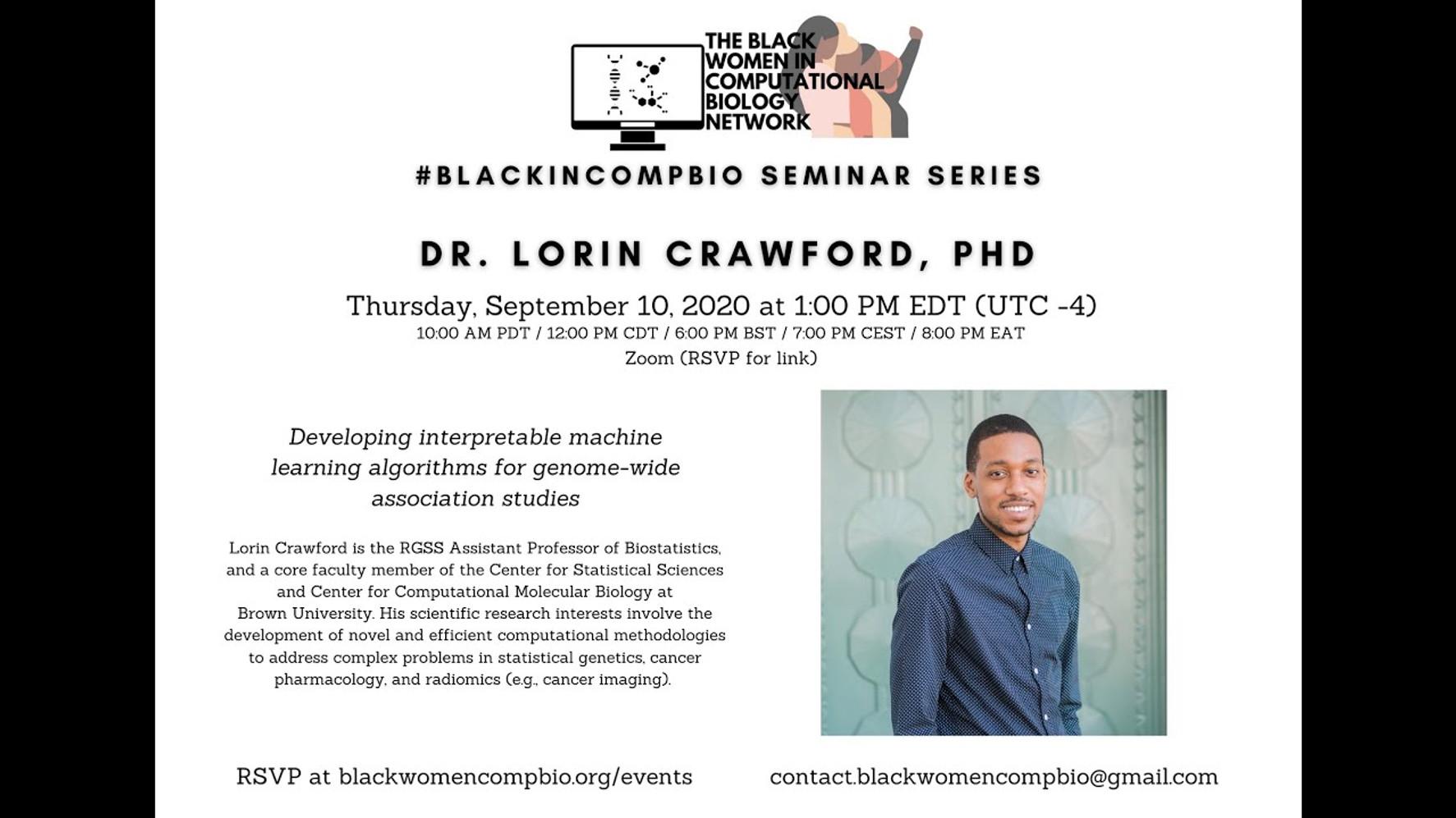Lorin Crawford, Ph.D. (Brown University)