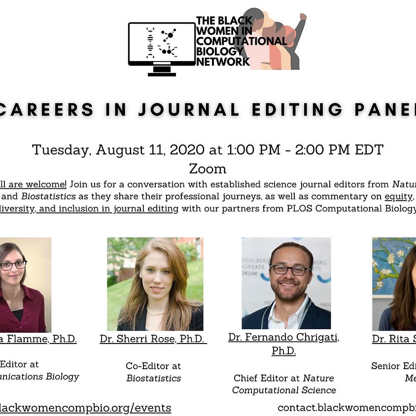 Careers in Journal Editing Panel