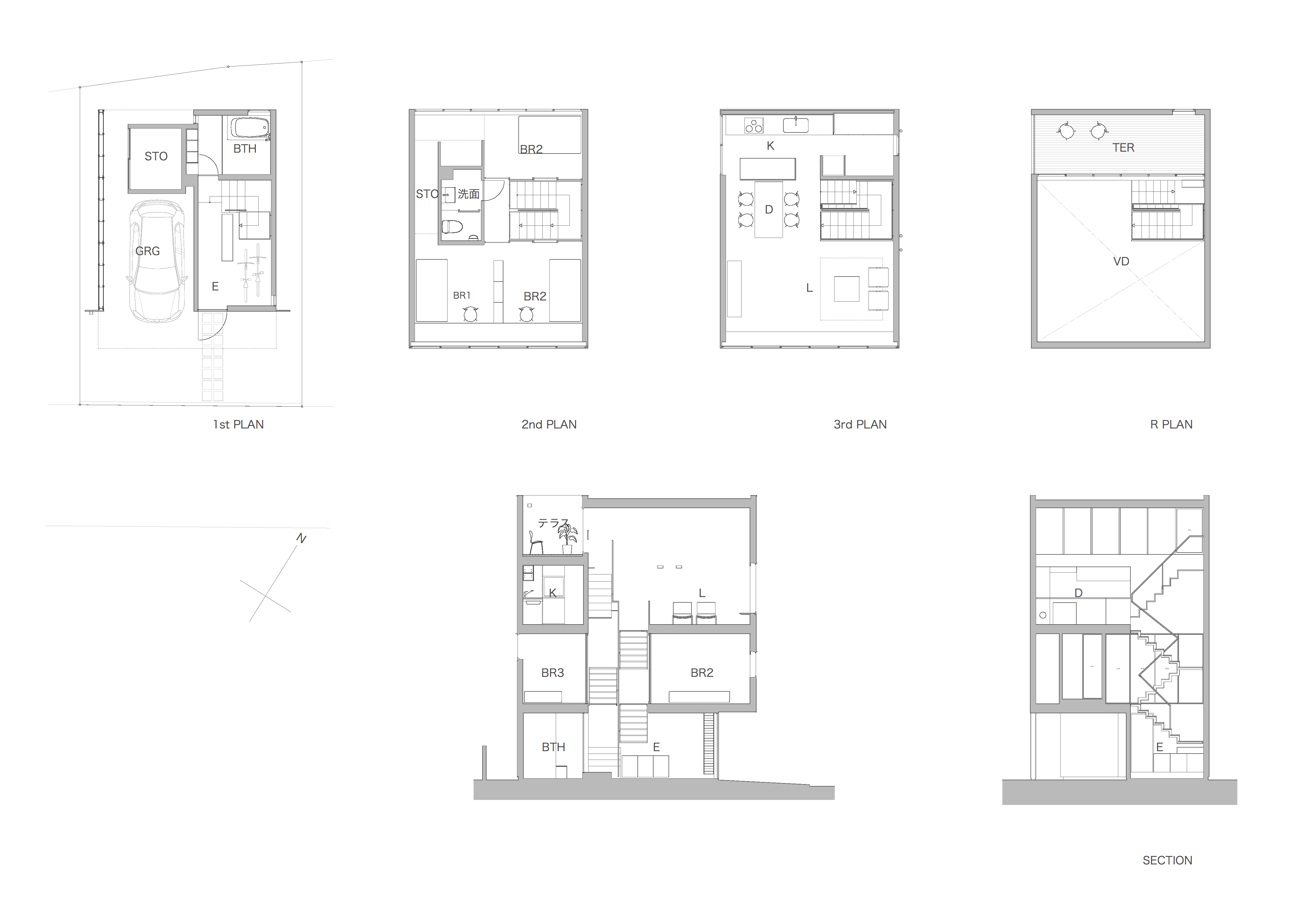 House in Fujikubo Plan