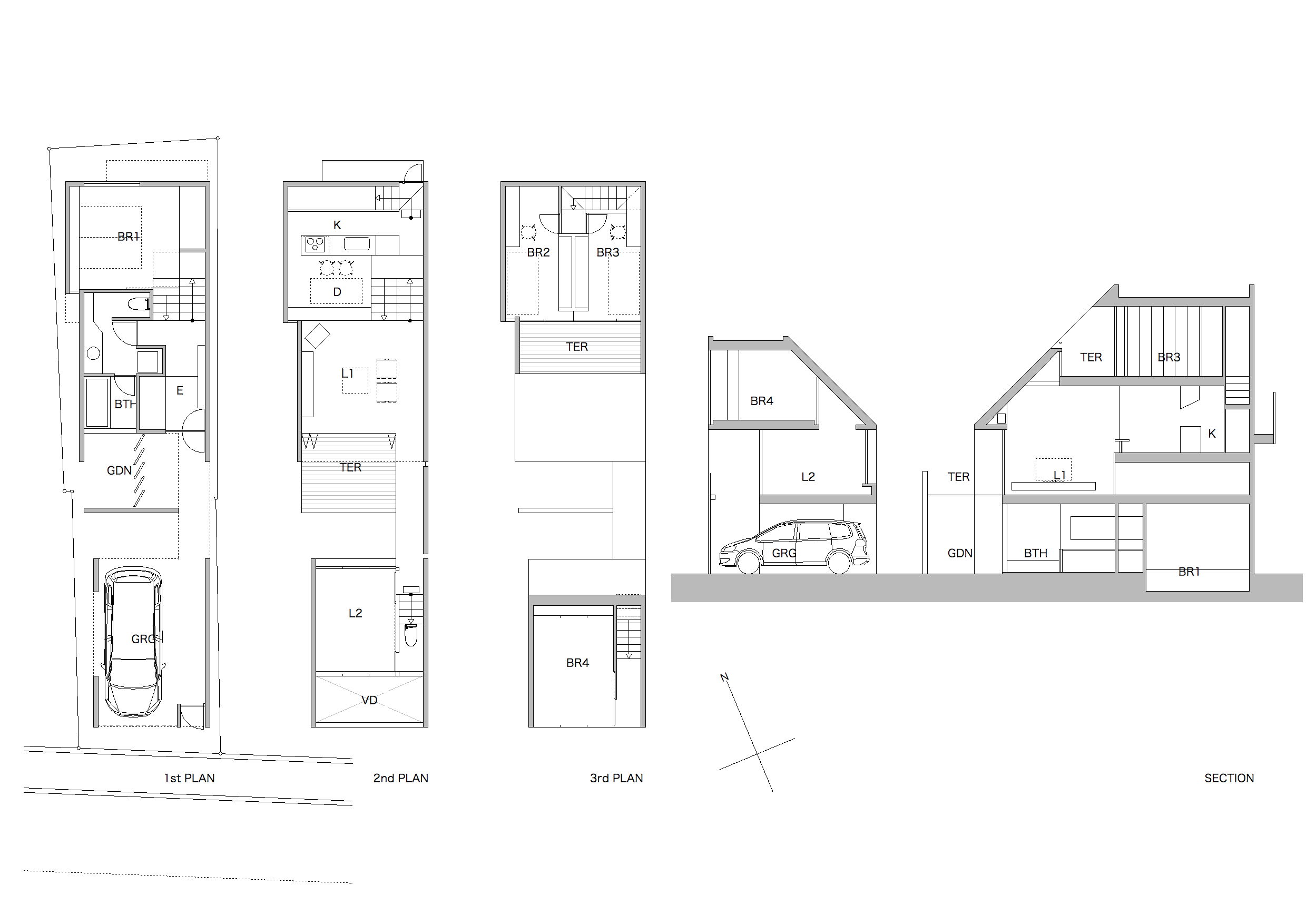House in Nishigahara Plan