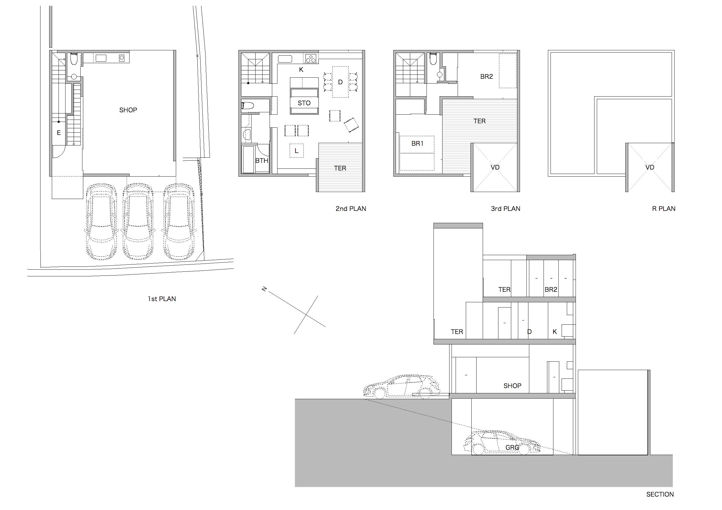 House in Ushitashinmachi Plan