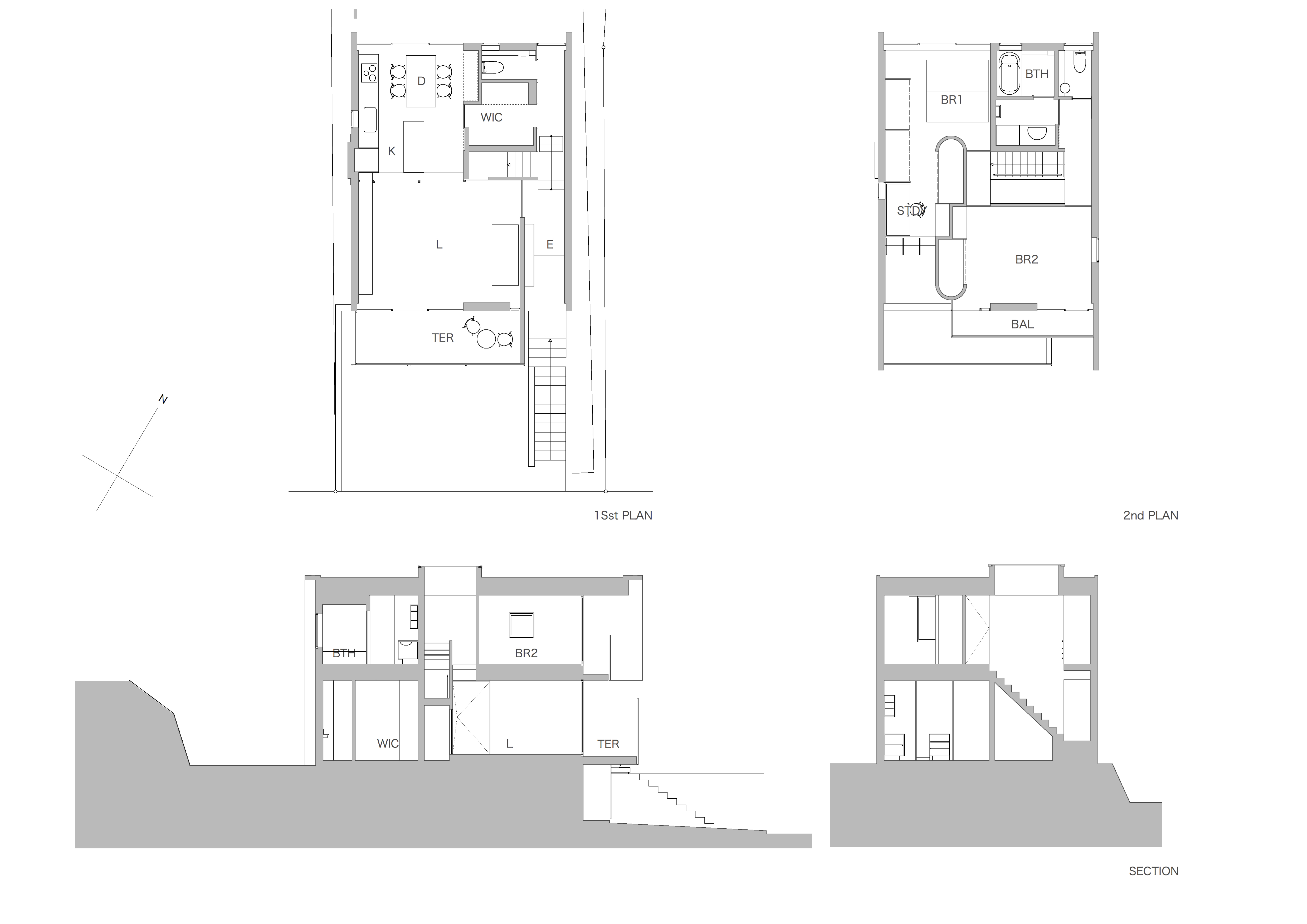 House in Midorigaoka Plan