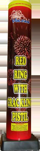 RED RING WITH CRACKLING PISTIL
