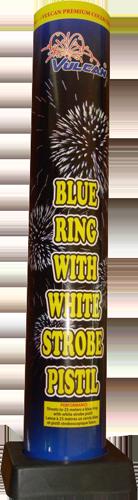 BLUE RING WITH WHITE STROBE PISTIL