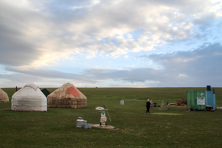 yurt camp near Song Kol, Kyrgyzstan