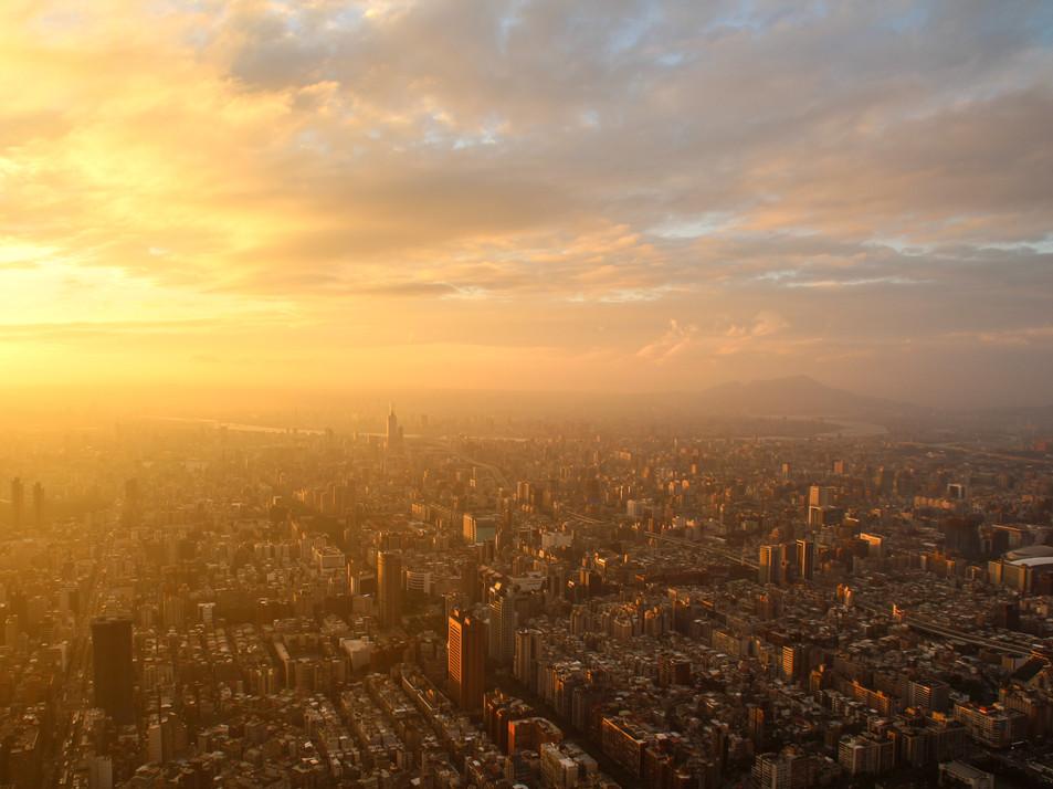 Views of Taipei from 'Taipei 101' Observatory