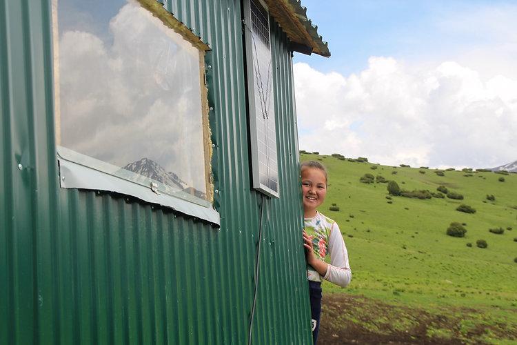 a girl in nomads' house near Jyrgalan, Kyrgyzstan