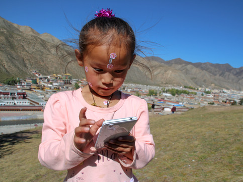 A Tibetan girl in Xiahe